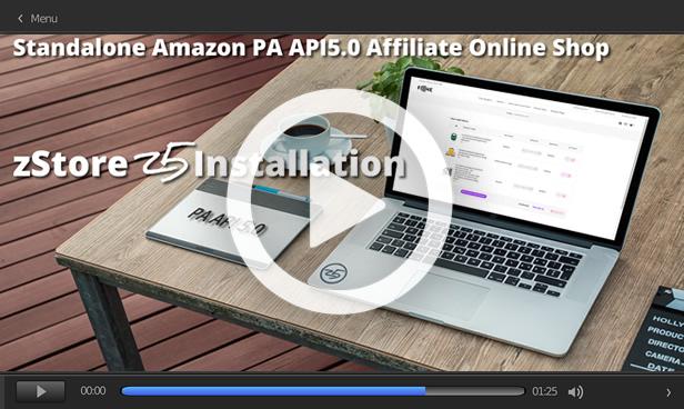 zStore z5 - an amazon affiliate Store - PA API 5.0 - 1